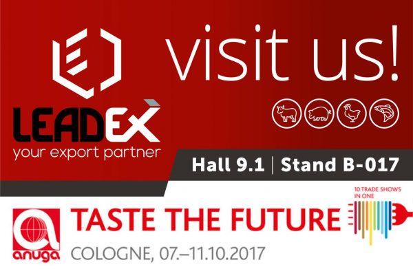 Visuel Leadex - Anuga 2017 - Cologne